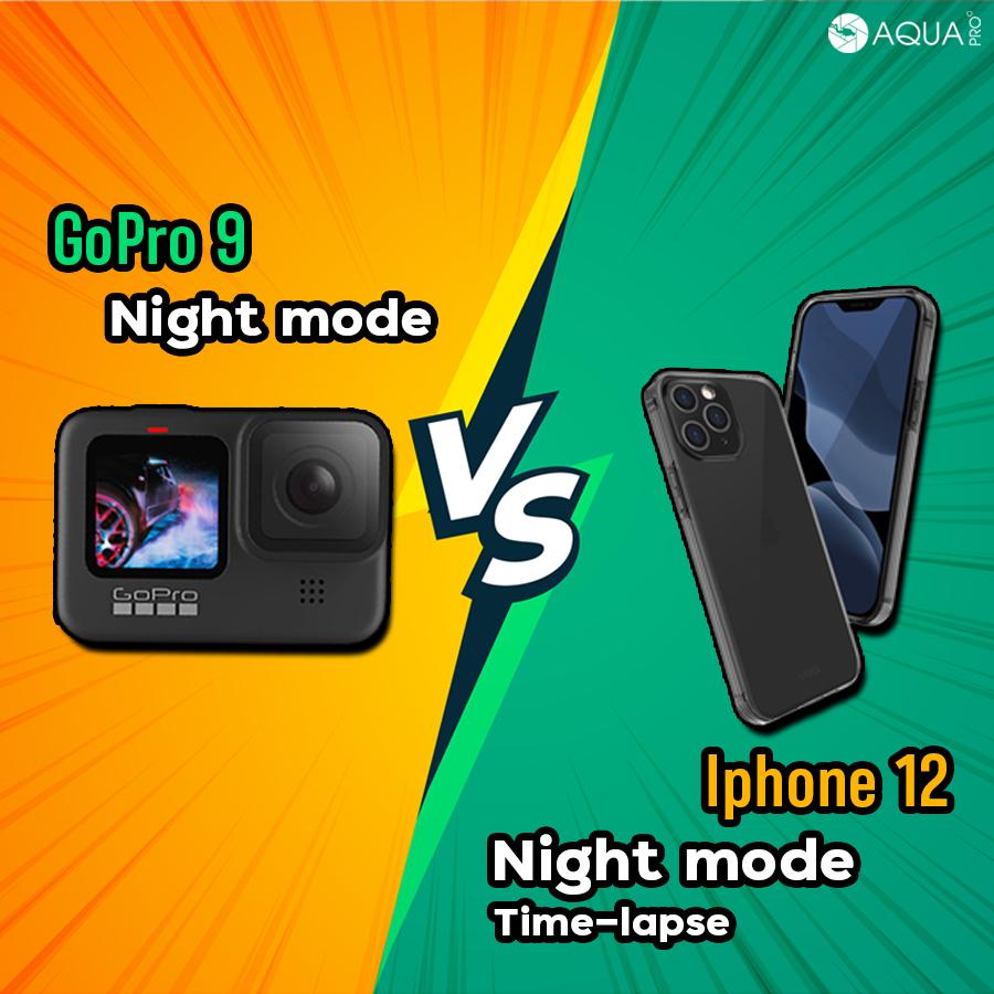 GoPro 9 vs Iphone 12 Night mode