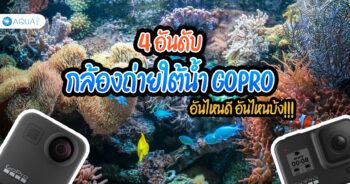 4 อันดับ กล้องถ่ายใต้น้ำ GoPro อันไหนดี อันไหนบ้ง!!!