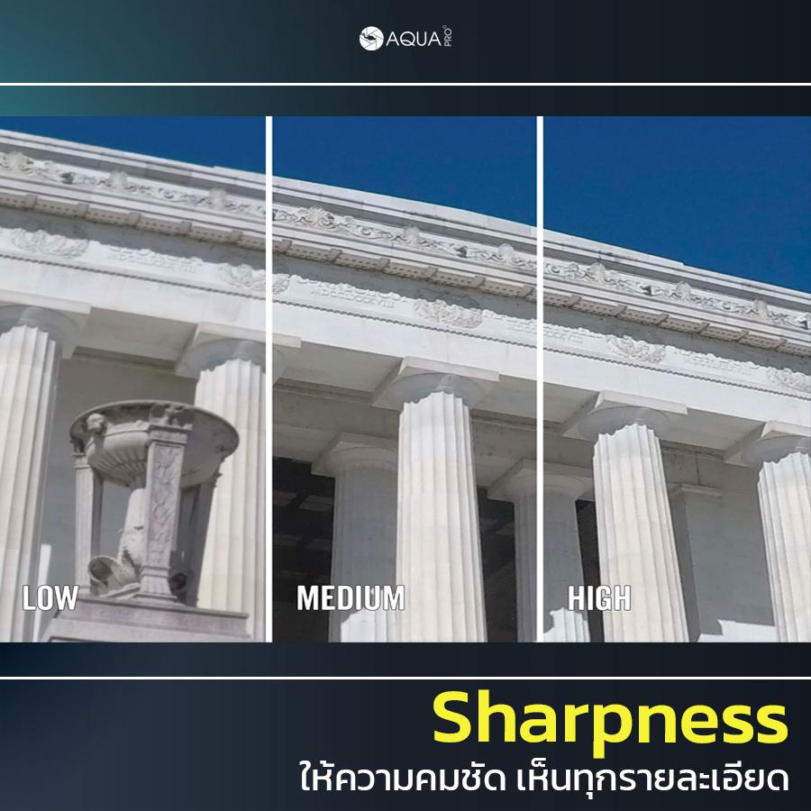 ตั้งค่า GoPro 9 sharpness